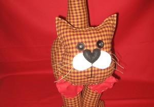 Gatto fermaporta di stoffa realizzato a mano