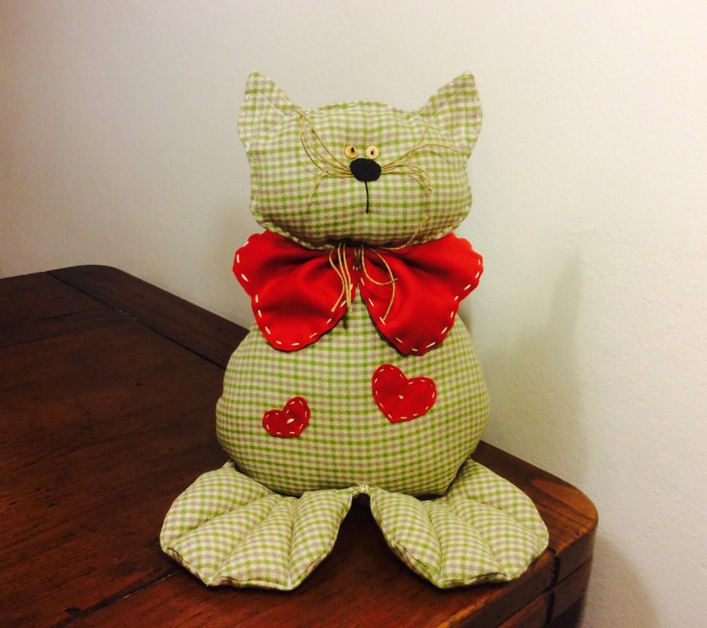 gatto fermaporta di stoffa legnidamare